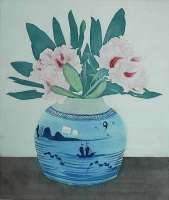 Rhododendrons in Gedecoreerde Gemperpot (Rhododendrons in a Decorated Ginger Jar) -  EVERBAG