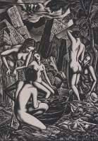 Baigneuses (Bathers) -  BUCKLAND-WRIGHT
