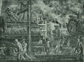 Erie R. R. Locos Watering - REGINALD MARSH