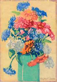 Grandmothers's Flowers (Zinnias) -  PATTERSON