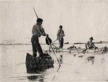 Two Canoes - FRANK BENSON