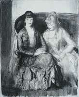 Emma and Marjorie on a Sofa -  BELLOWS