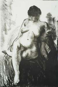Nude Woman Seated (first state) -  BELLOWS