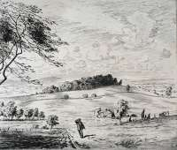 Country Scene with Man Walking -  LEWIS