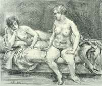 Two Models on a Bed -  MARSH