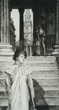 The Portico of the National Gallery -  TISSOT