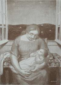 Maternité a la Fenêtre Ouverte (Motherhood at the Open Window) -  DENIS