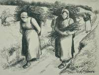 Porteuses de Fagots (Women Carrying Bundles of Sticks) -  PISSARRO