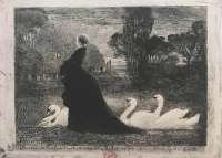 A Woman with Swans (La Dame aux Cygnes) -  BUHOT
