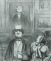 It's Really Quite Flattering to Have one's Portrait Exhibited at the Salon (C'est tout d'même flatteur d'avoir son portrait...) -  DAUMIER