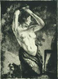 Model with Bare arms Raised (Le Modèle nu les Bras Levés) -  BESNARD