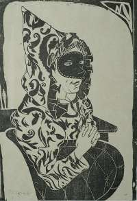 Masked Woman with a Cape (Gemaskerde vrouw met cape) -  MESQUITA