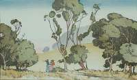 California Landscape with Two Figures -  KELSEY
