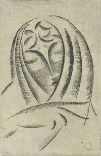 Female Head, Draped #3 -  NADELMAN