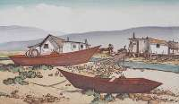 Shore Scene with Fishing Boats -  KELSEY