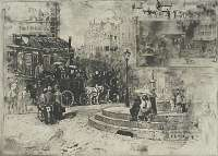 La Place Pigalle in 1878 -  BUHOT