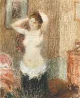 Woman Combing her Hair -  LAURENT