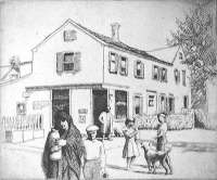 Street Scene, New England (probably Provincetown) -  PAXTON