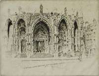 Porch of San Maclou, Rouen -  PENNELL