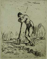 Man Leaning on a Spade (L'homme Appuye sur sa Beche) -  MILLET