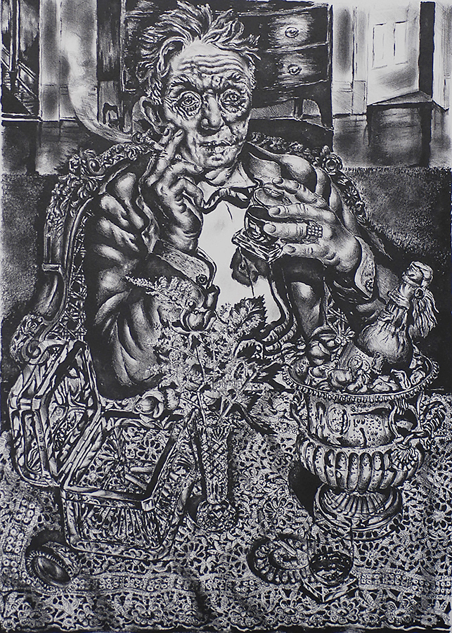 Fleeting Time Thou Has Left Me Old - IVAN ALBRIGHT - lithograph