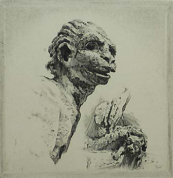Ugly Devil (Gargoyle Studies) - JOHN TAYLOR ARMS - etching