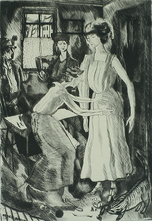 Country Dressmaking - PEGGY BACON - drypoint