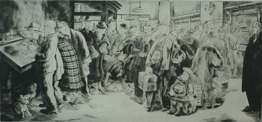Post Haste - PEGGY BACON - drypoint
