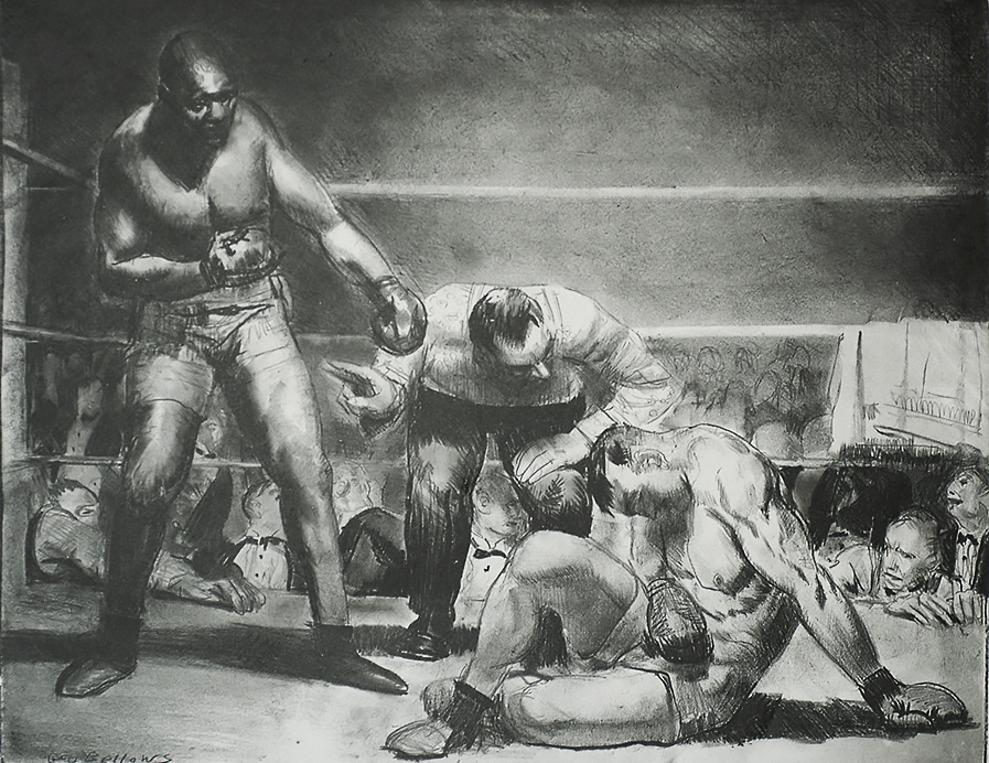 The White Hope - GEORGE BELLOWS - lithograph