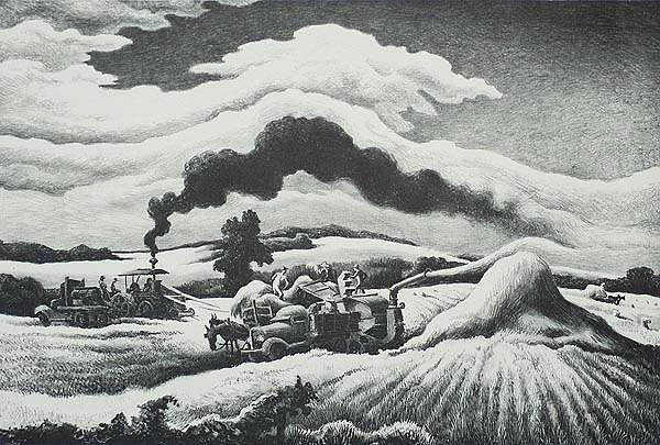 Threshing - THOMAS HART BENTON - lithograph