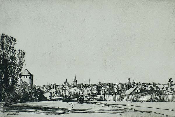 Distant Oxford - MUIRHEAD BONE - drypoint