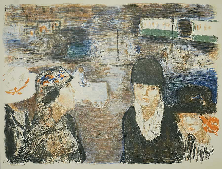 Place Clichy (Paris) - PIERRE BONNARD - lithograph printed in five colors