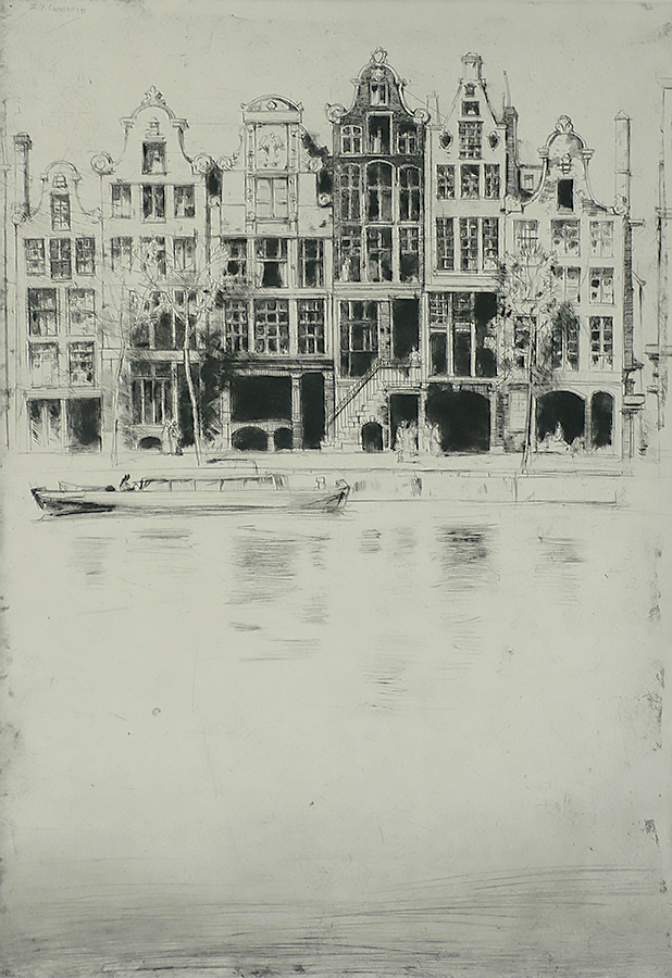 Souvenir d'Amsterdam - DAVID YOUNG CAMERON - etching and drypoint