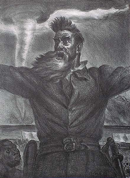John Brown - JOHN STEUART CURRY - lithograph