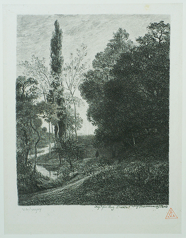 The Banks of the Cousin - CHARLES-FRANCOIS DAUBIGNY - etching