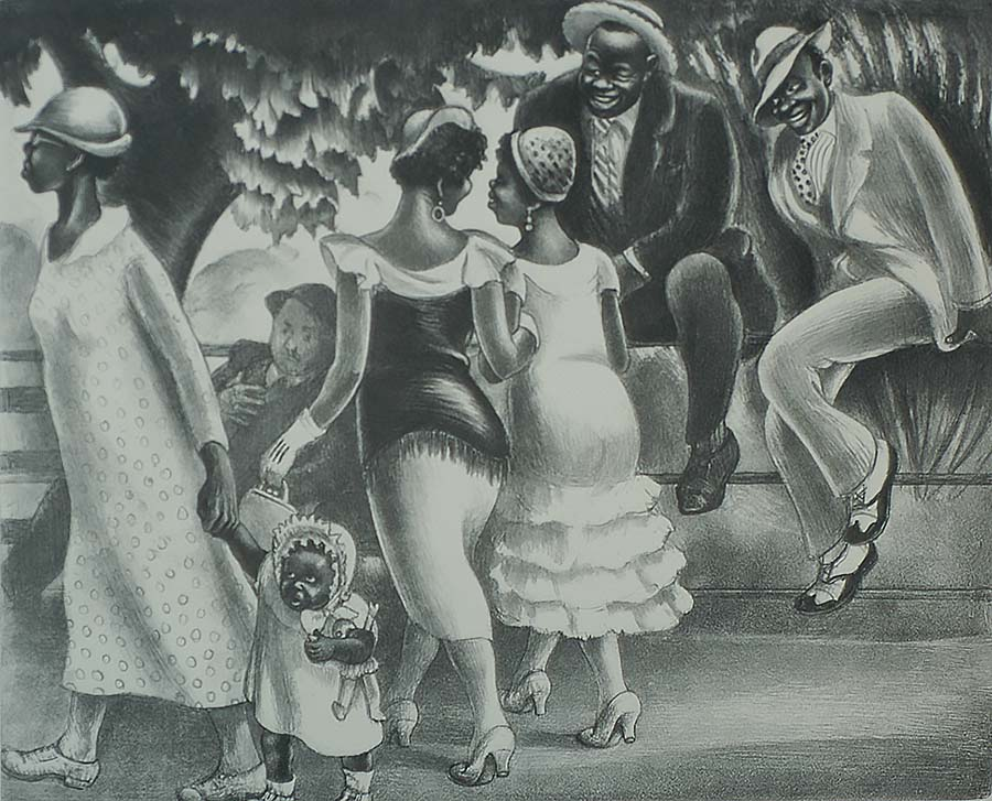 Sunday Afternoon - MABEL DWIGHT - lithograph