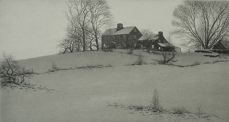 Day's End, Driftway - KERR EBY - etching and aquatint