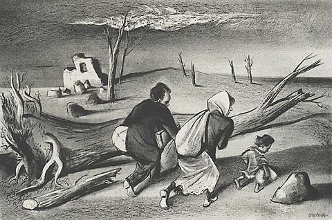 Uprooted - WILLIAM GROPPER - lithograph