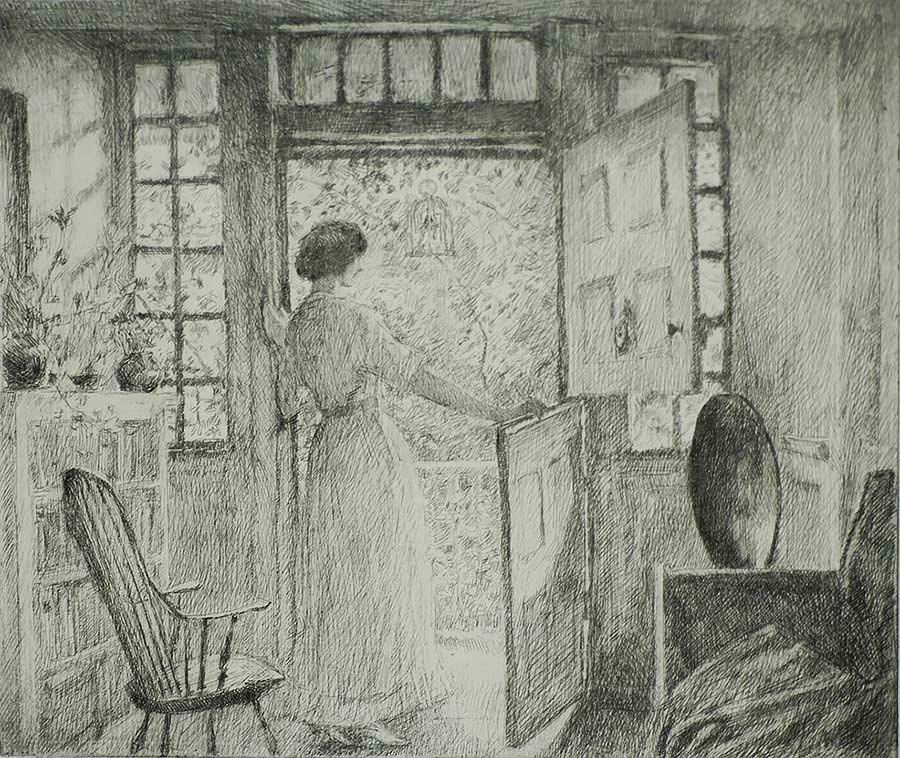 The Dutch Door - CHILDE HASSAM - etching