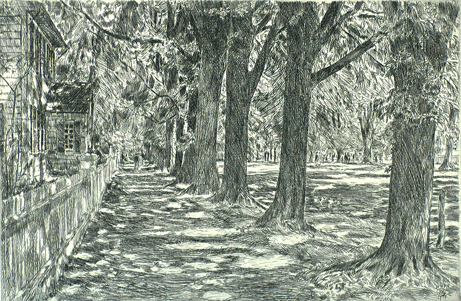 Easthampton - CHILDE HASSAM - etching