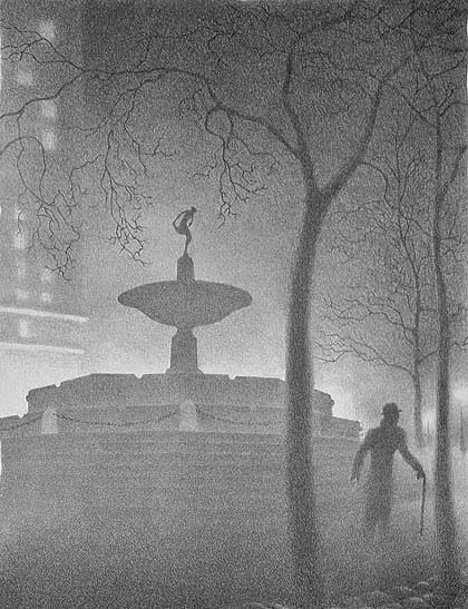 The Pulitzer Fountain (New York) - ELLISON HOOVER - lithograph