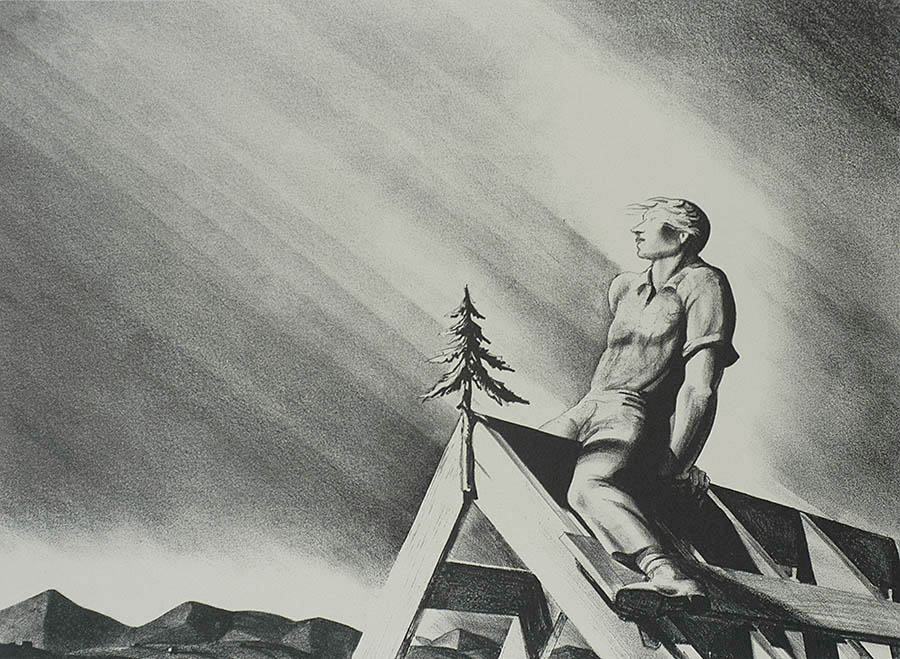 Roof Tree - ROCKWELL KENT - lithograph