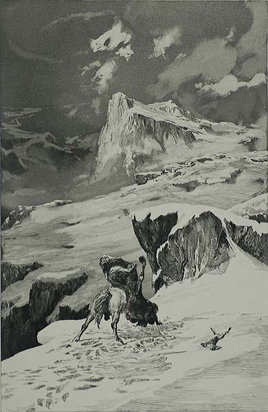 Battling Centaurs (Kampfende Centauren) - MAX KLINGER - etching and aquatint