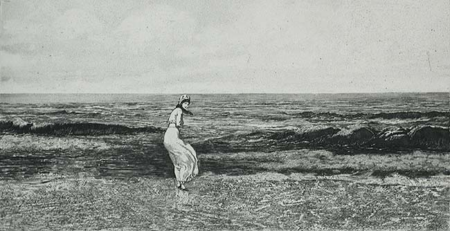 By the Sea (Am Meer) - MAX KLINGER - etching and aquatint