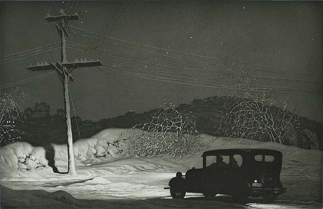 Which Way? - MARTIN LEWIS - aquatint