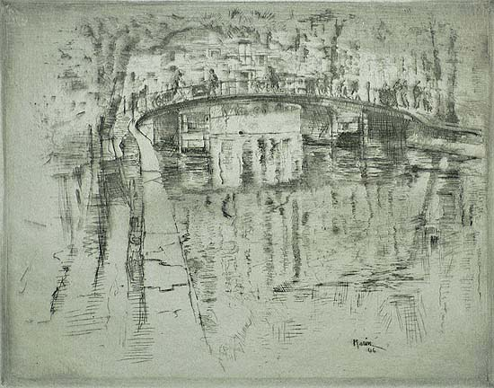 Bridge Over Canal, Amsterdam - JOHN MARIN - etching