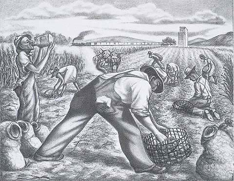 Working the Fields - JOSEPH MEERT - lithograph