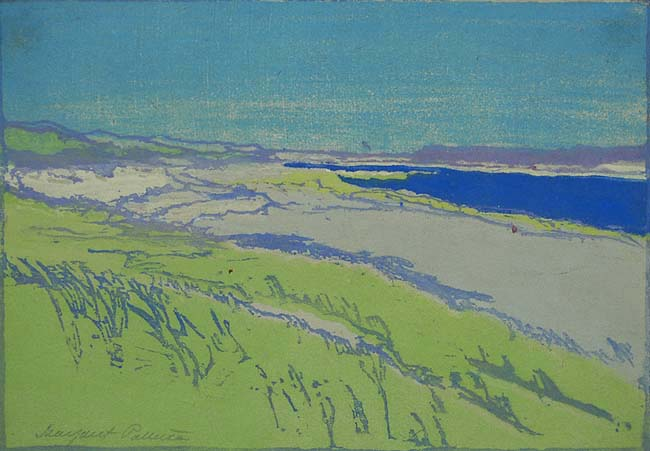 The Sands, Chatham (MA) - MARGARET PATTERSON - woodcut printed in colors