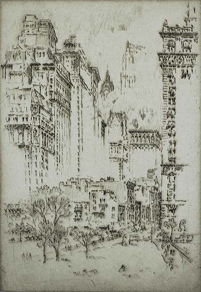 From the Lowest to the Highest (New York) - JOSEPH PENNELL - etching