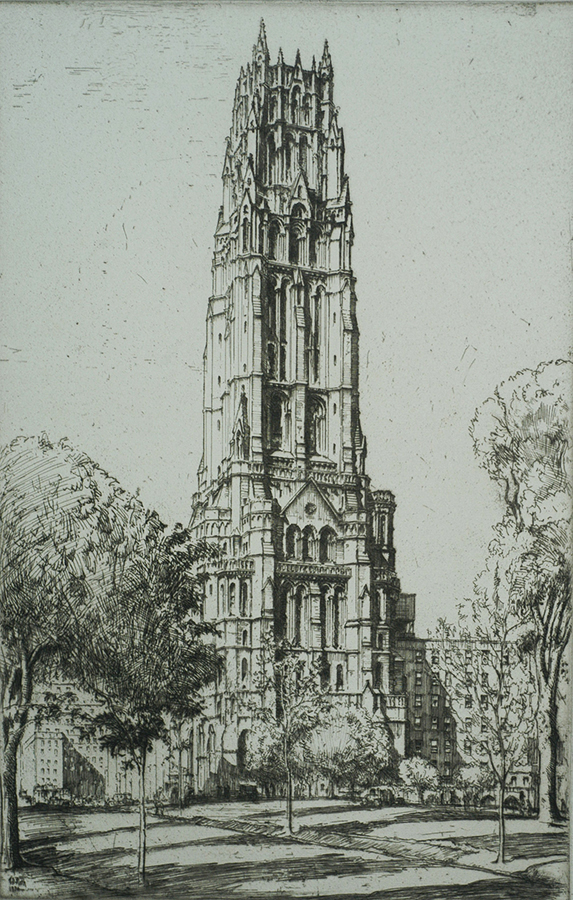Riverside Church, New York - ERNEST ROTH - etching